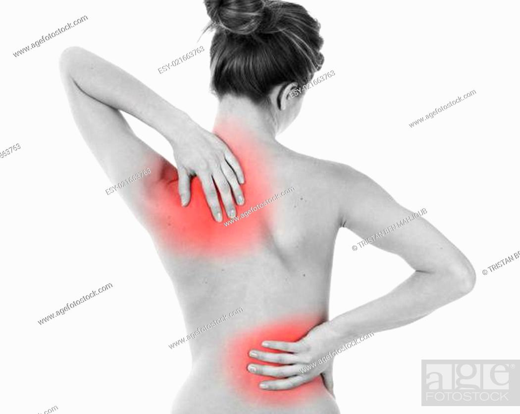 Stock Photo: Backache.
