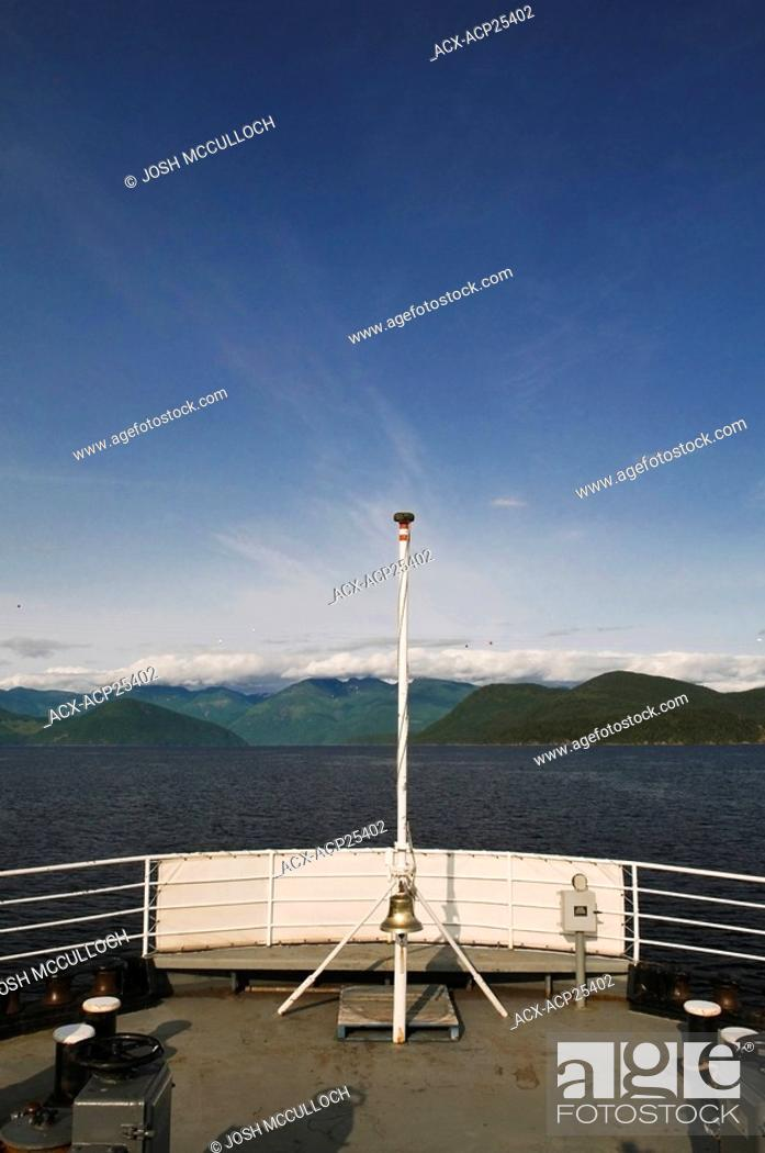 Stock Photo: The view from the Earl's Cove - Saltery Bay Ferry on the Sunshine Coast, BC.
