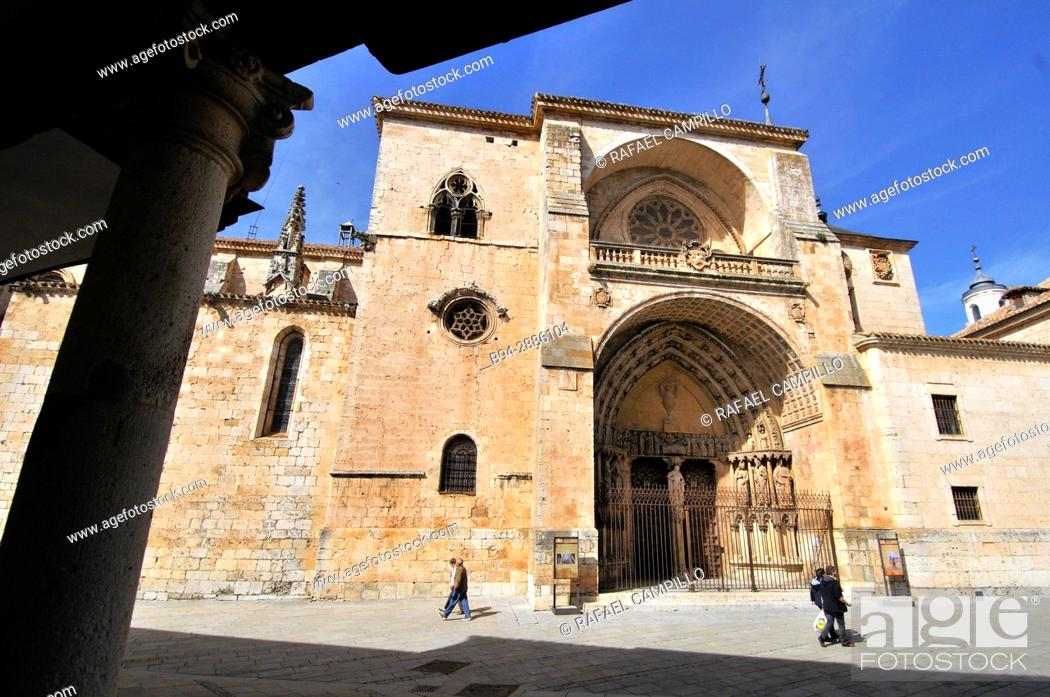 Stock Photo: Cathedral, Burgo de Osma, Soria province, Castilla-Leon, Spain.