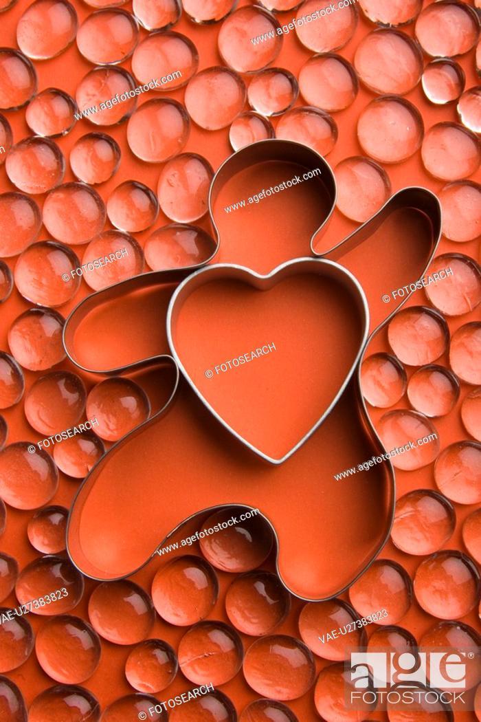 Stock Photo: Close-Up, Heart Shape, Gem, Full Frame, Abundance.