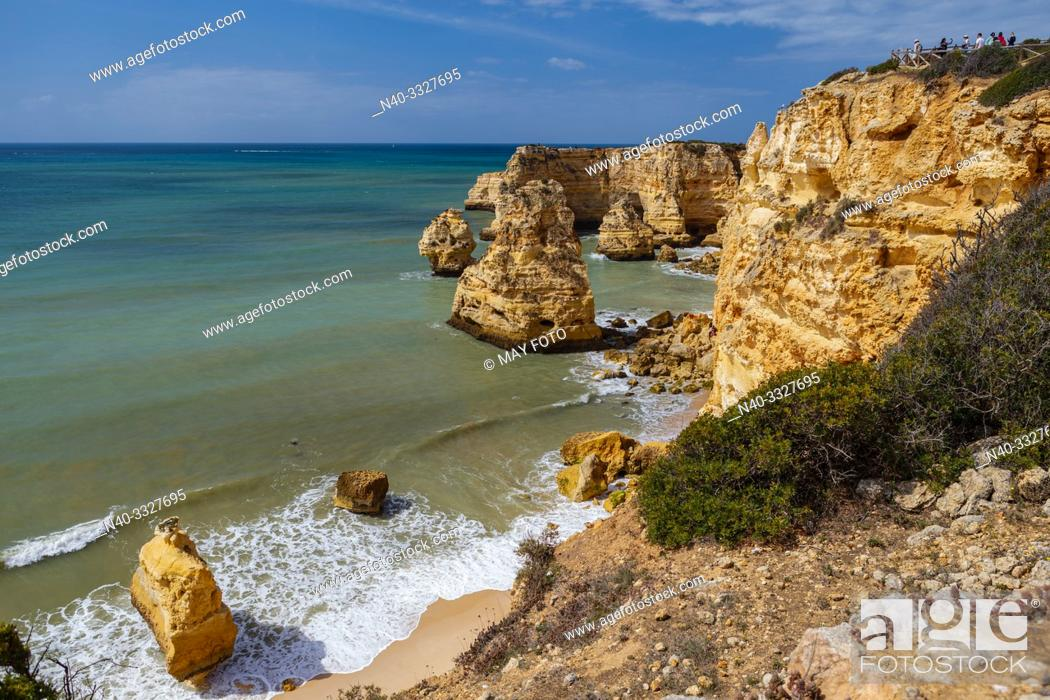 Imagen: Algarve, Marinha beach, Portugal, Europe, Atlantic ocean, Seven Valleys trail.