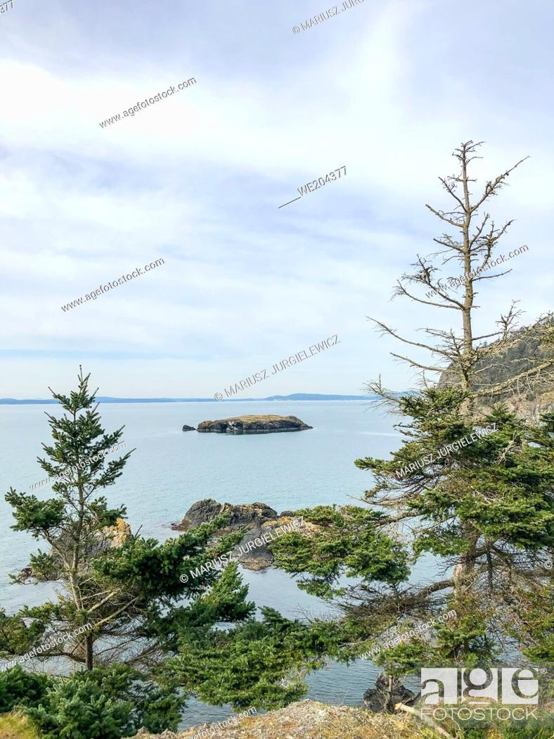 Stock Photo: Rosario Beach falls within the Fidalgo Island parcel of Deception Pass State Park. Actually a set of two beaches, one on either side of a peninsula.