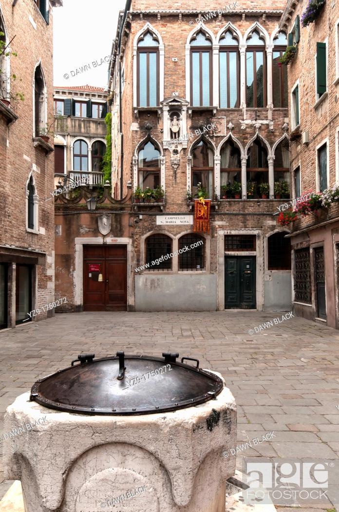 Stock Photo: Palazzo Bembo-Boldu, Campiello Santa Maria Novo, Canarregio, Venice, Italy.