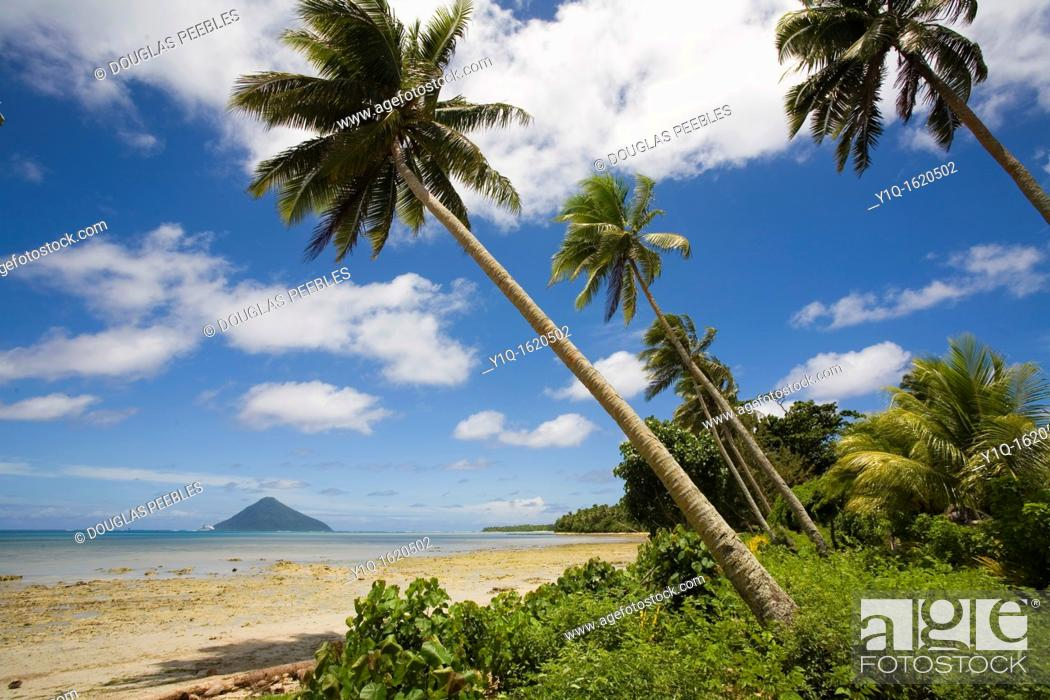 Stock Photo: View of Talafi from Niuatoputapu, Tonga.