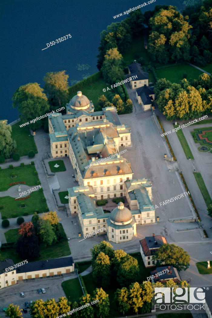 Stock Photo: Drottningholm Palace, home of the Swedish royals. Stockholm, Sweden.