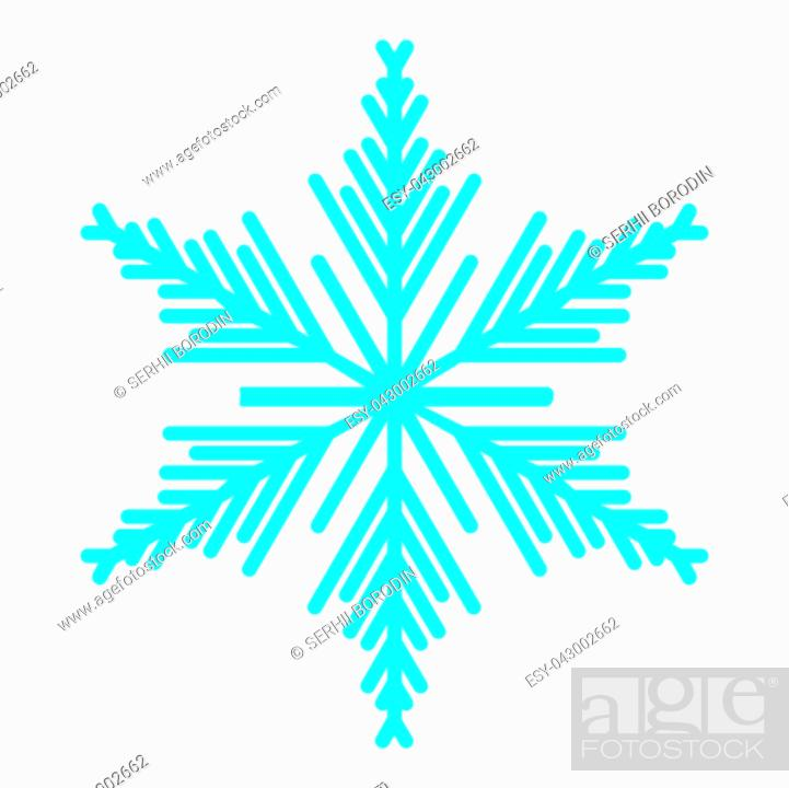 Stock Vector: Snowflake icon blue color icon black color vector illustration isolated.
