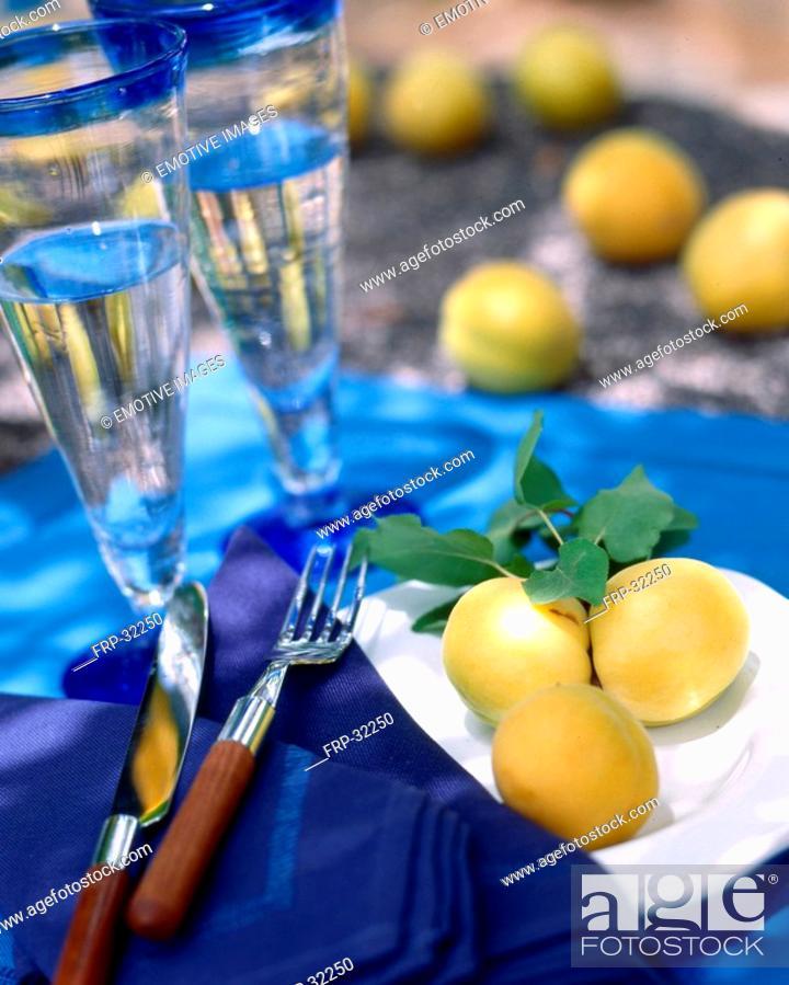 Stock Photo: Table deko in blue.