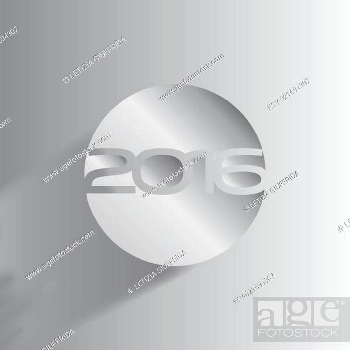 Stock Vector: Abstract Background - Happy New Year 2016.