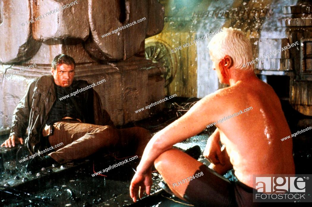 Stock Photo: Harrison Ford, Rutger Hauer, 'Blade Runner' 1982.