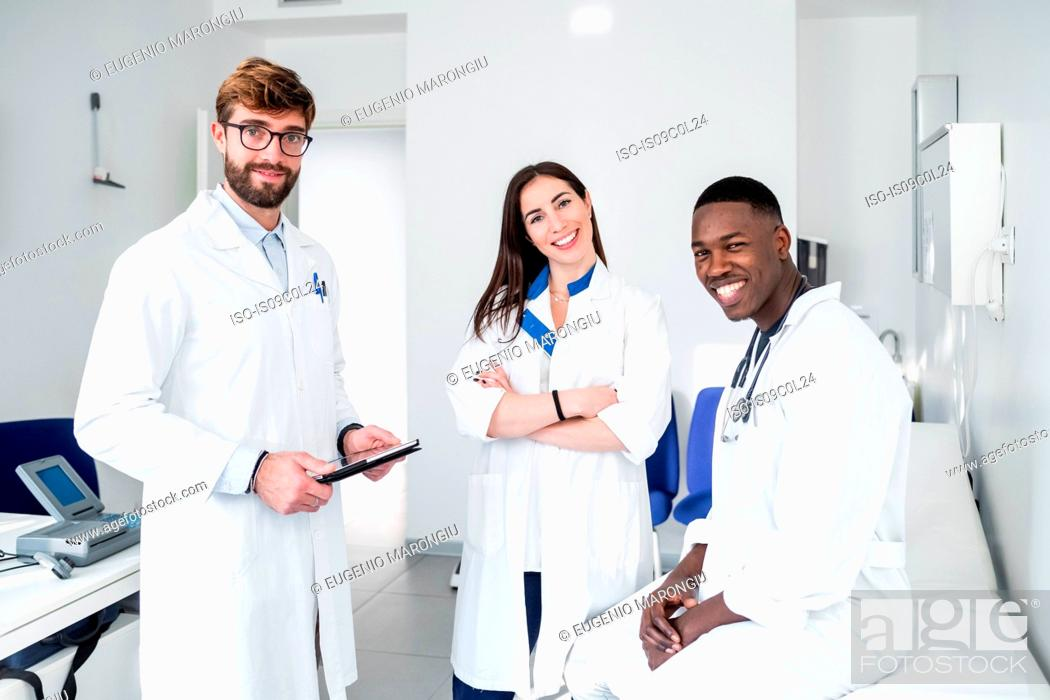 Stock Photo: Doctors in consultation room.