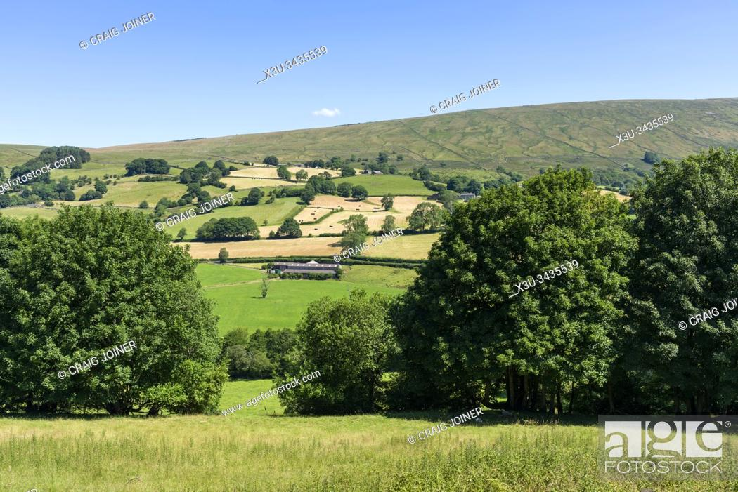 Stock Photo: The view over Dentdale towards Aye Gill Pike and Rise Hill in the Yorkshire Dales National Park, Cumbria, England.