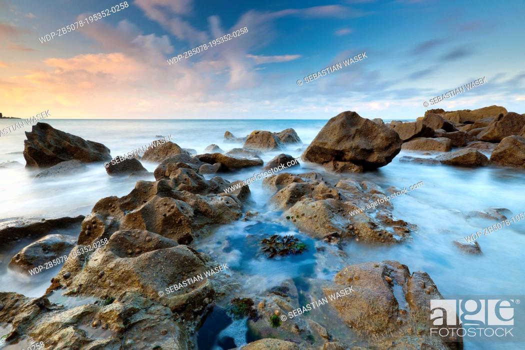 Stock Photo: St Govans Head, Pembrokeshire Coast National Park, Broad Haven, Wales, UK.