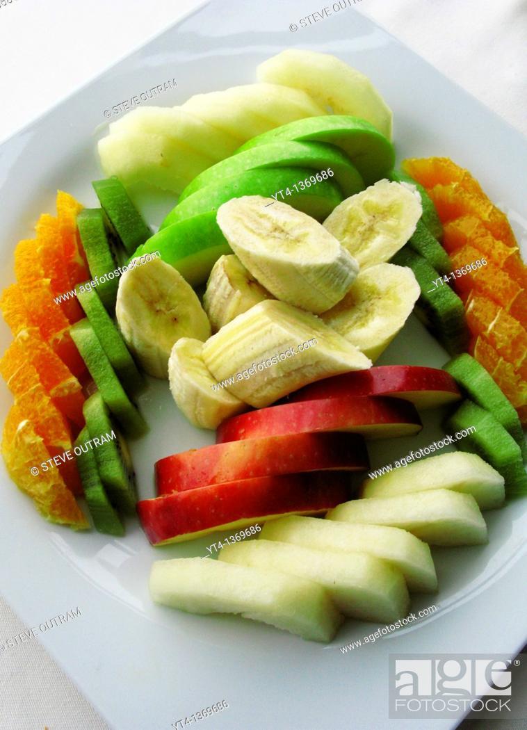 Stock Photo: Fresh Fruit Salad, Istanbul, Turkey.