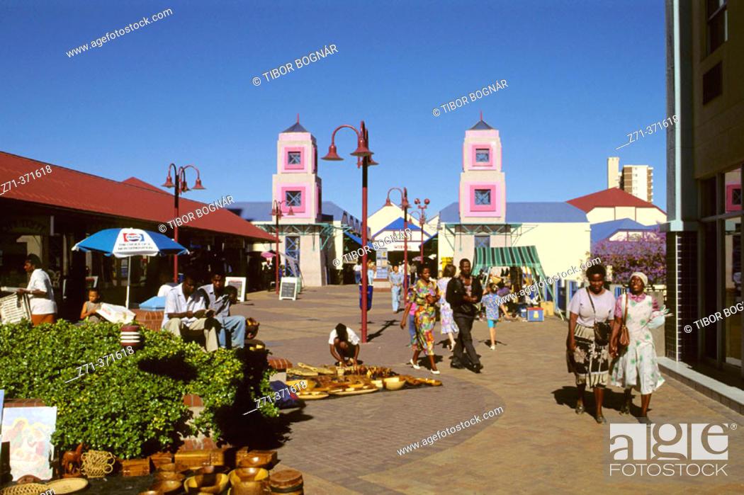 Stock Photo: Post Street Mall. Windhoek. Namibia.