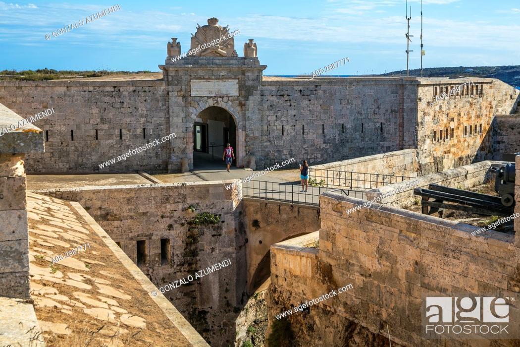 Imagen: La Mola Fortress (XIX century). Port of Mao. Mao Municipality. Minorca Island. Balearic Islands. Spain.