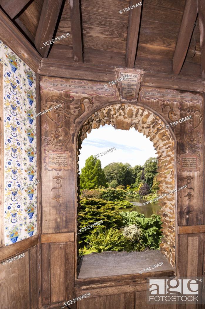 Stock Photo: Inside the building beside the lake at Sandringham House at Sandringham Estate in Norfolk , England , Britain , Uk.