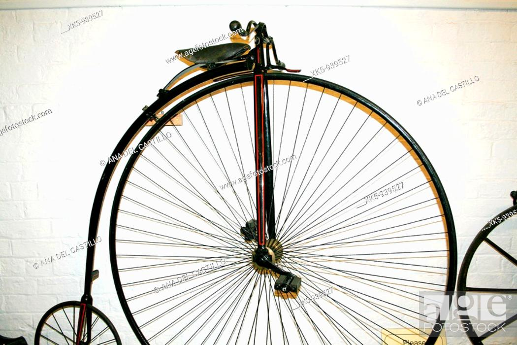 Stock Photo: Antique velocipede.