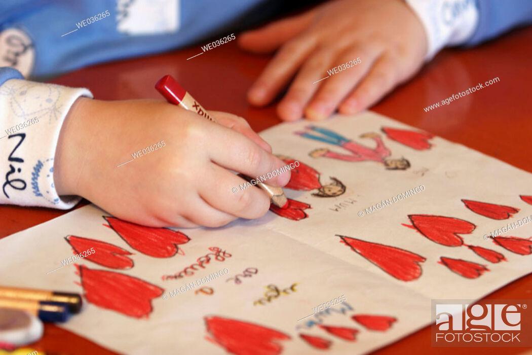 Stock Photo: Child painting.