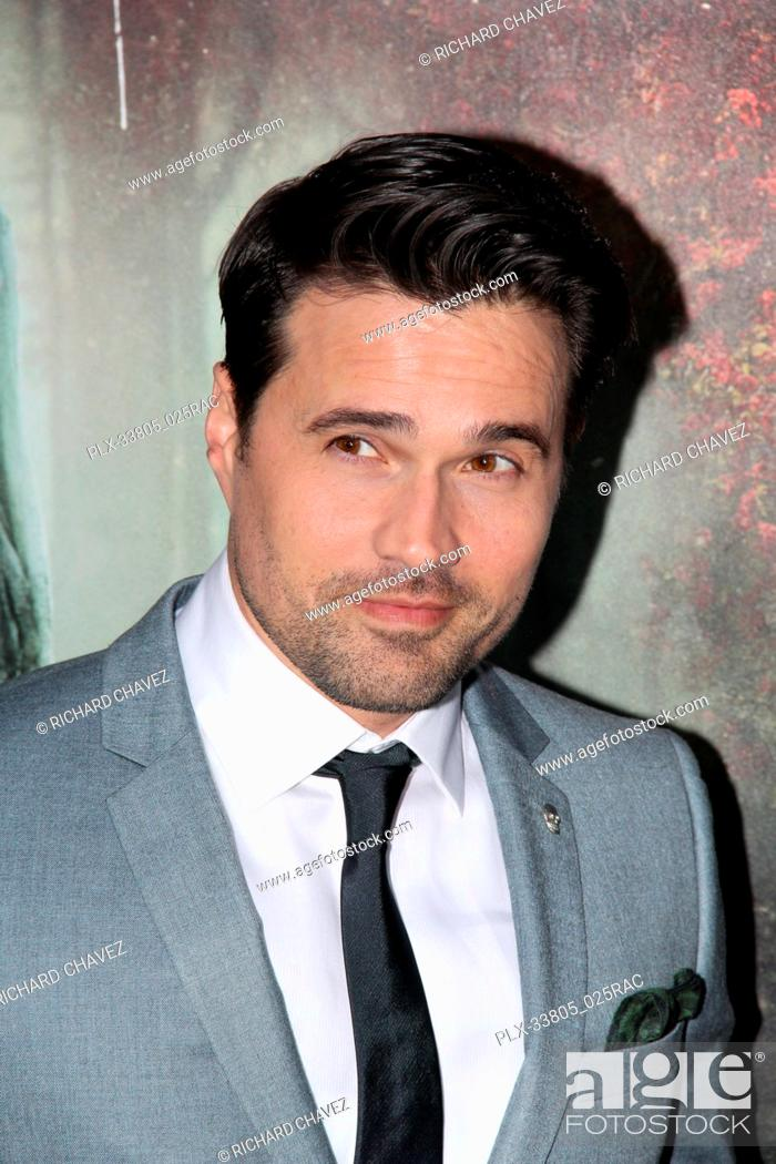 """Stock Photo: Brett Dalton at the Warner Bros. Premiere of """"""""The Curse of La Llorona"""""""". Held at the Egyptian Theater in Hollywood, CA, April 15, 2019."""
