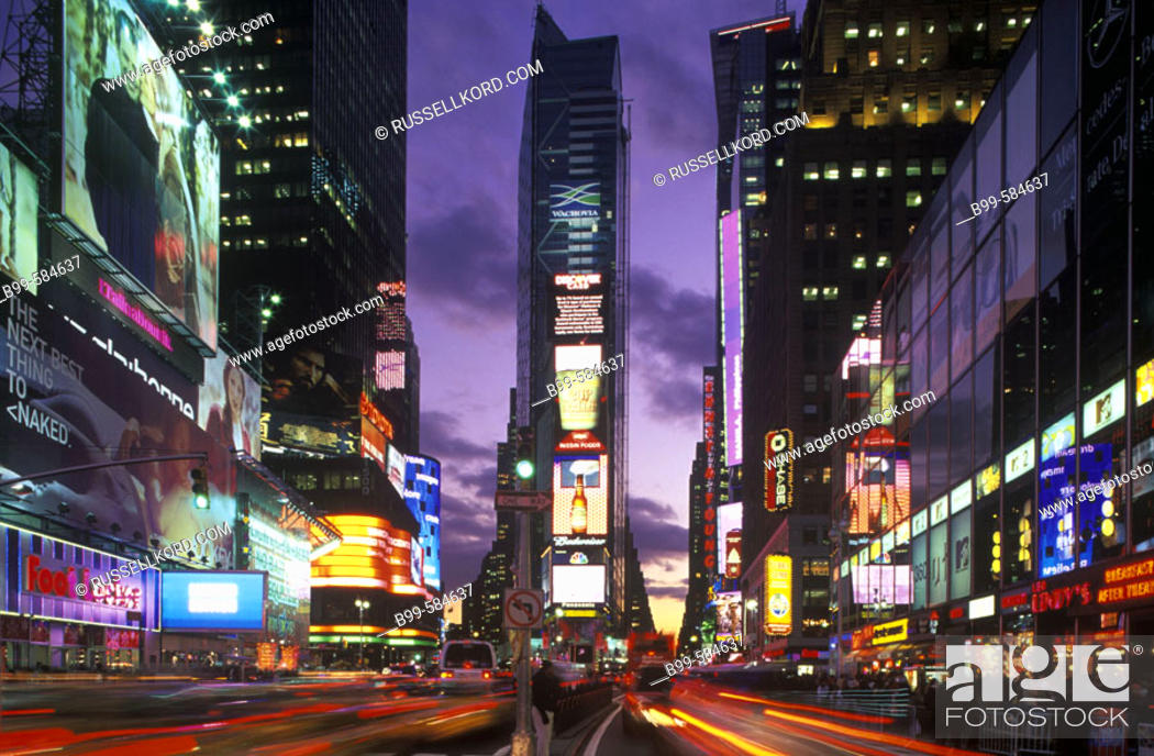 Stock Photo: Street Scene, Times Square, Mid-town, Manhattan, New York, Usa.