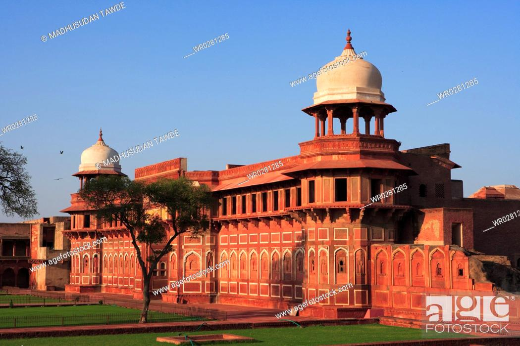 Stock Photo: Agra fort built in 16th Century by Mughal emperor , Agra , Uttar Pradesh , India UNESCO World Heritage Site.