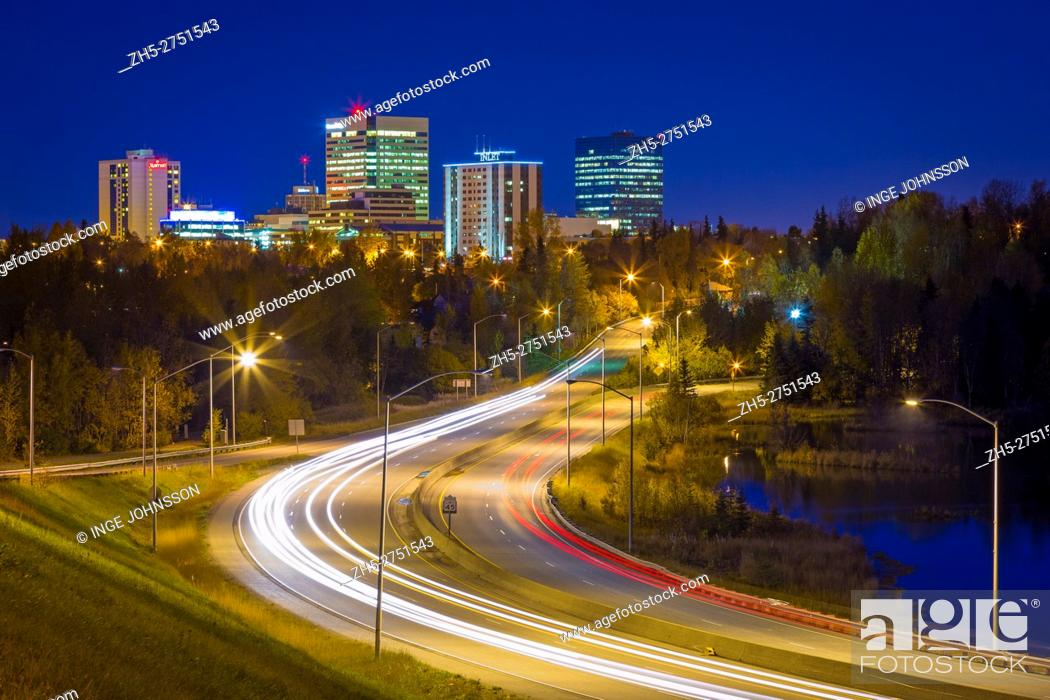 Stock Photo: Anchorage (officially called the Municipality of Anchorage) is a unified home rule municipality in the southcentral part of the U. S. state of Alaska.