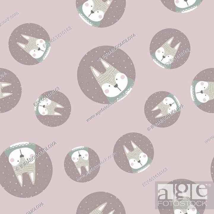 Scandinavian Seamless Pattern With Gray Rabbit Finnish Design Nordic Style Stock Vector Vector And Low Budget Royalty Free Image Pic Esy 051610163 Agefotostock