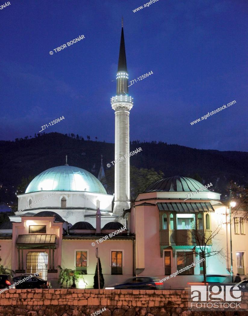 Stock Photo: Bosnia and Herzegovina, Sarajevo, Emperor's Mosque,.
