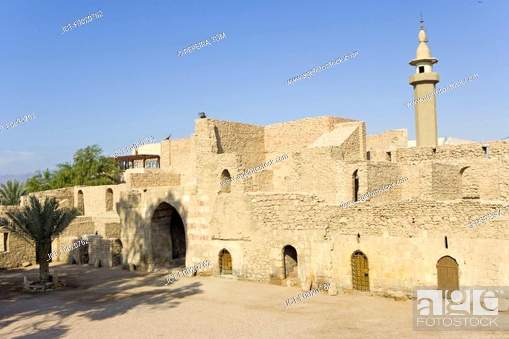 Stock Photo: Jordan, Aqaba, Mameluk fortress.