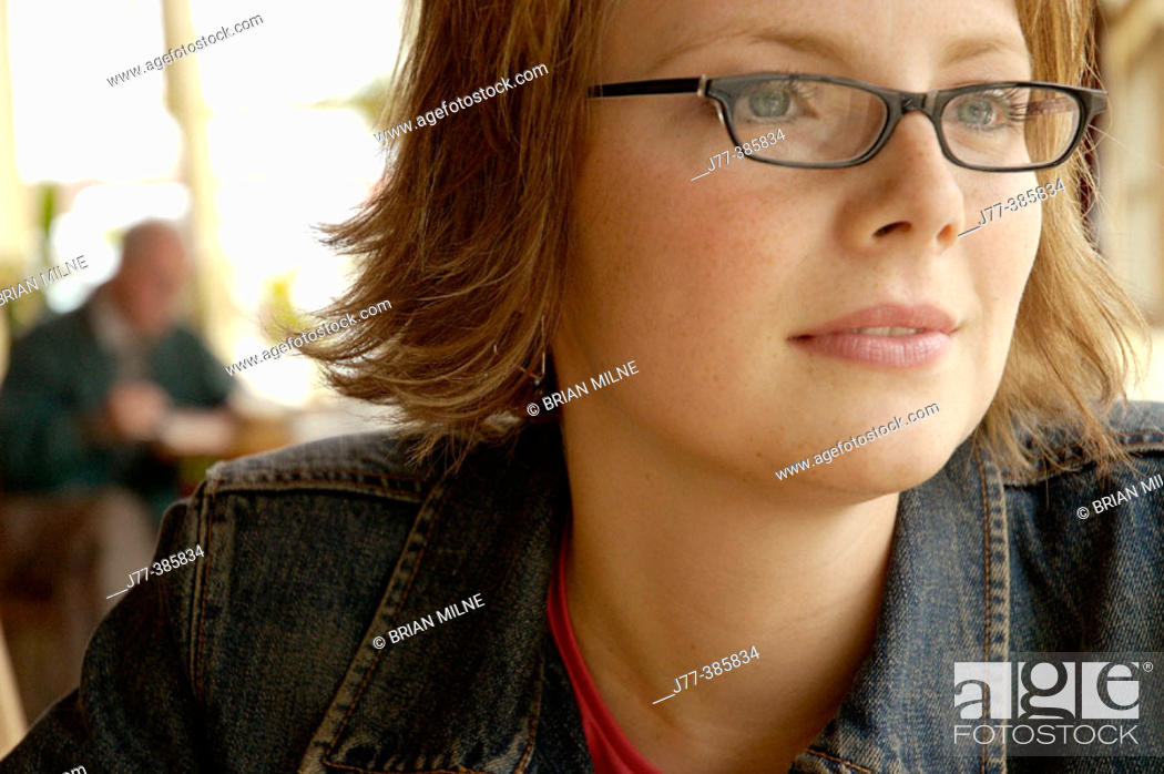 Stock Photo: Woman in a restaurant.