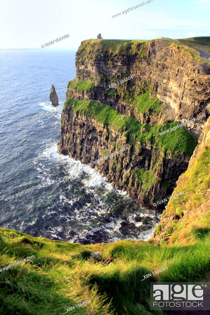 Stock Photo: Cliffs of Moher, Clare county, Ireland.