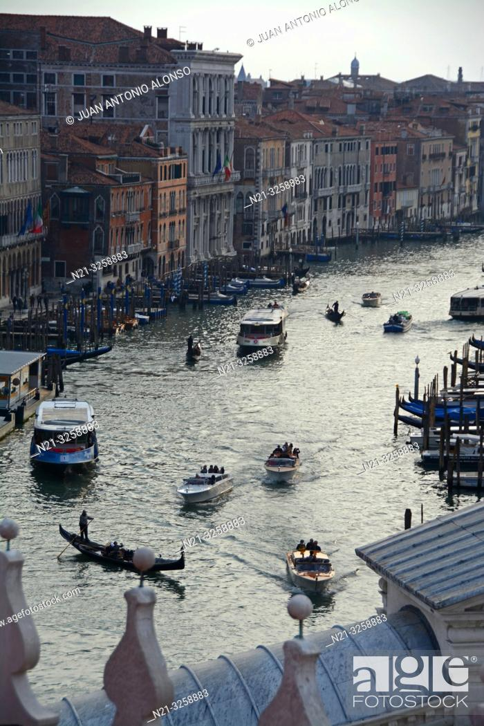 Stock Photo: The Grand Canal. Venice, Veneto, Italy.