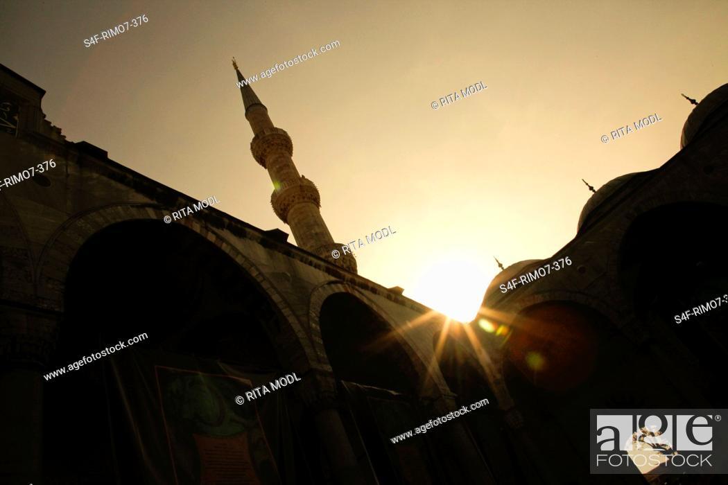 Stock Photo: Türkei, Istanbul, Blaue Moschee.