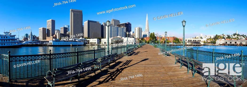 Stock Photo: City skyline, Embarcadero, San Francisco, California, United States of America, North America.