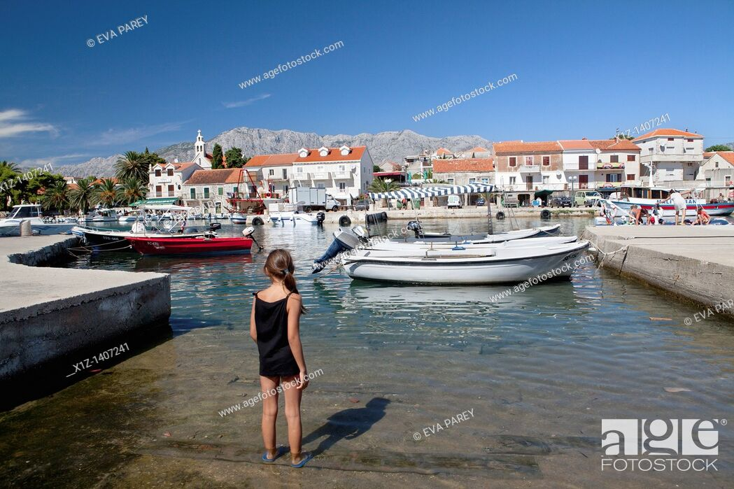Stock Photo: Hvar pier in Croatia.