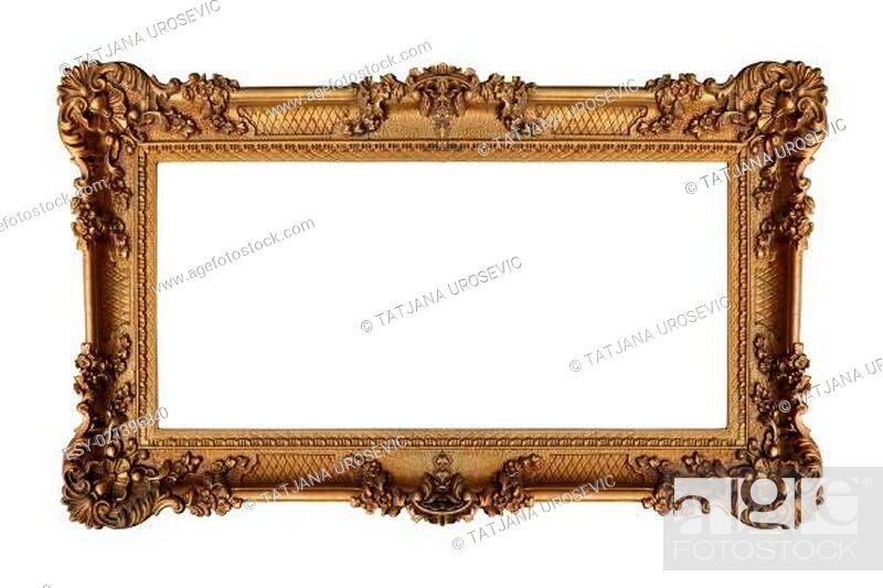 Stock Photo: Golden frame.