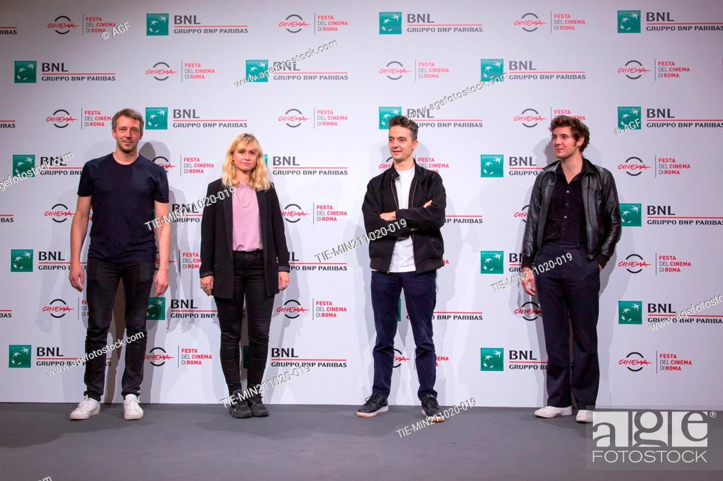 "Stock Photo: Justin Taurand, Katell Quillevere, Helier Cisterne, Vincent Lacoste attend the photocall of the movie """"De Nos Freres Blesses"""" during the 15th Rome Film."