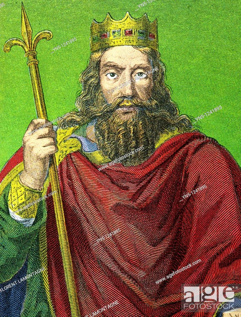 Stock Photo: CLOVIS I 466-511  King merovingian of France  First king of France and of the Francs population.