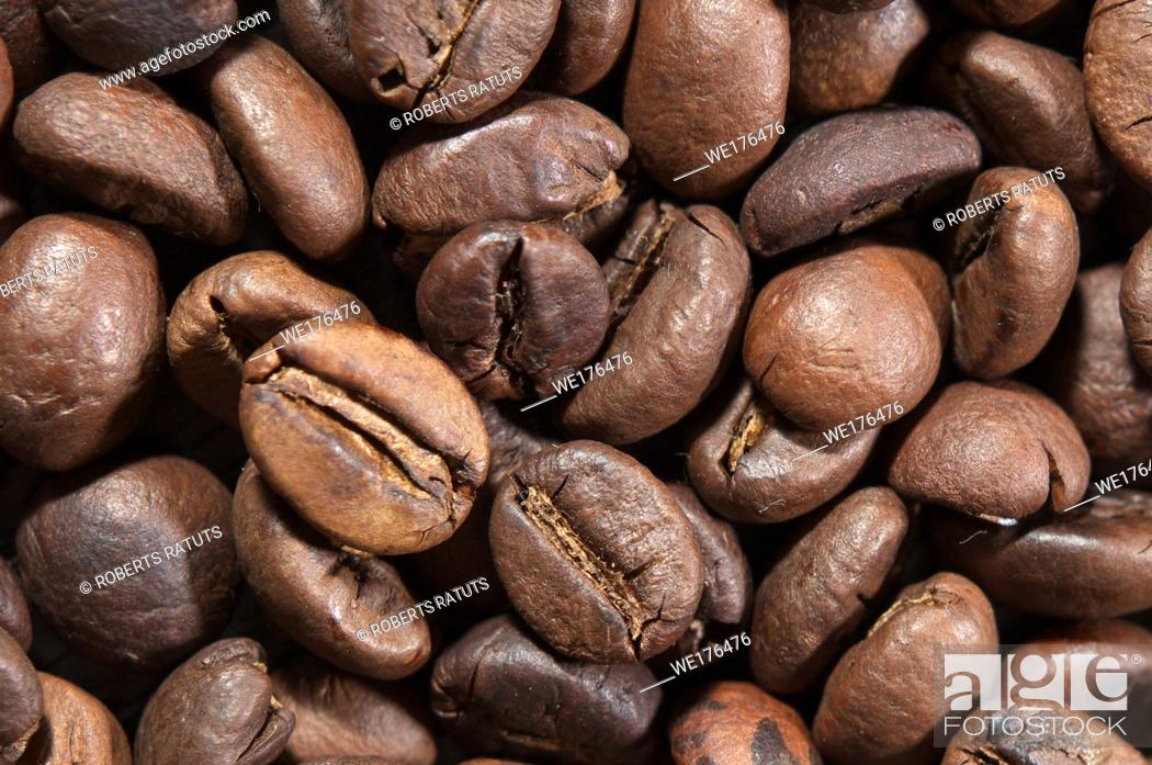 Stock Photo: Coffee beans. Coffee beans as background or texture. Background of coffee beans.