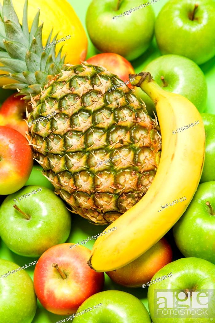 Stock Photo: Assortment of different fruit.