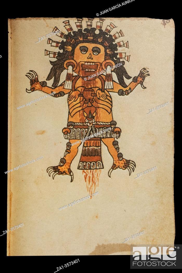 Imagen: Tzitzimitl God at Codex Tudela, folio 46r, 16th-century pictorial Aztec codex. Museum of the Americas, Madrid, Spain.