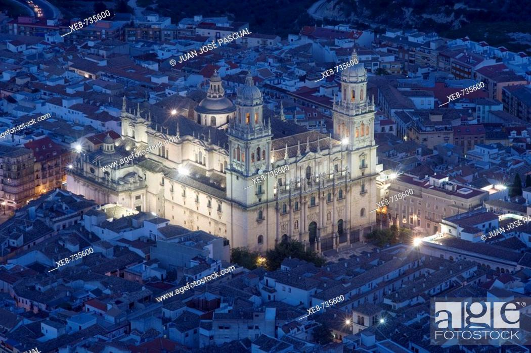 Stock Photo: Cathedral, Jaen. Andalucia, Spain.