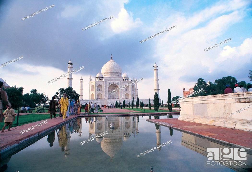 Stock Photo: Taj mahal, agra, delhi, india, asia.