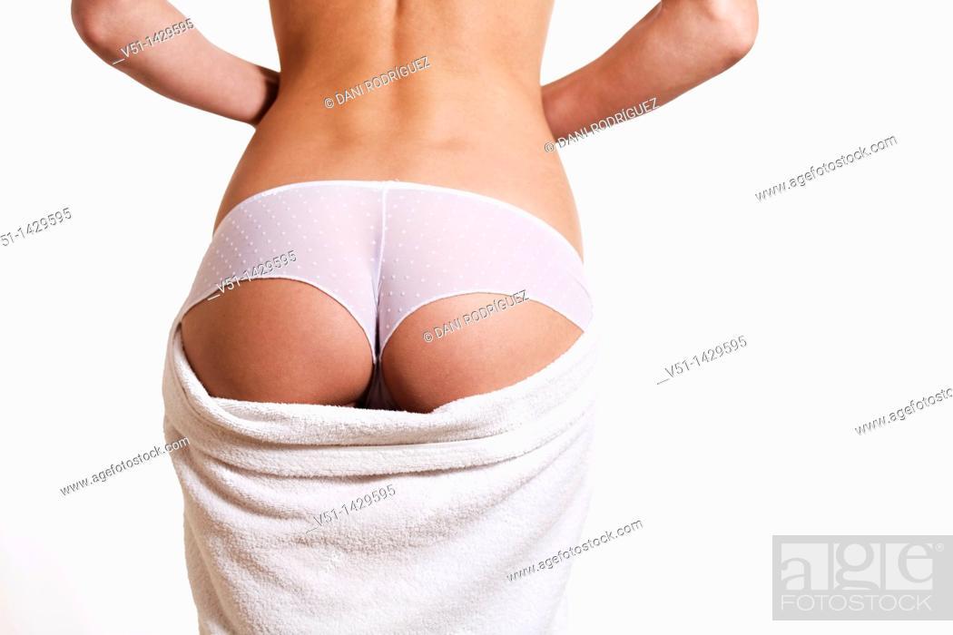 Stock Photo: Woman buttock.