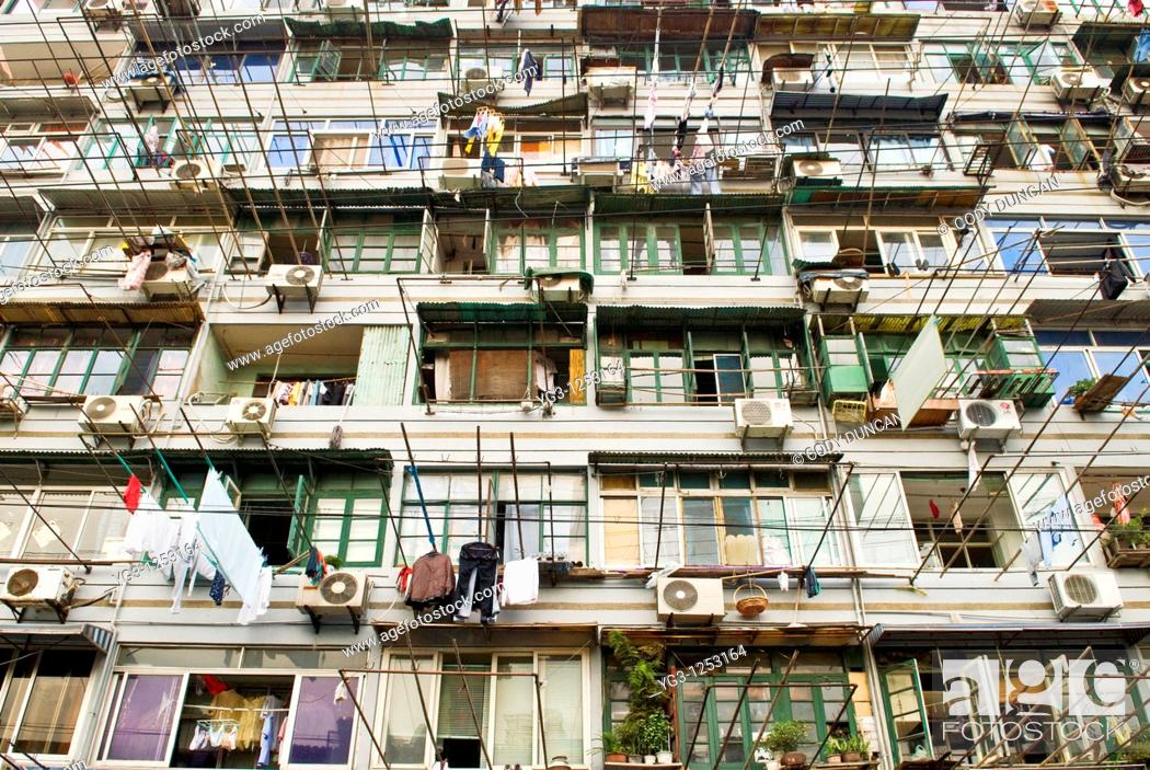 Stock Photo: Apartment building, Shanghai, China.