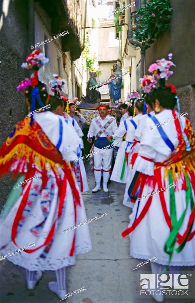 Stock Photo: 'Danza de la Italianas'. Garganta la Olla. Caceres province. Extremadura. Spain.