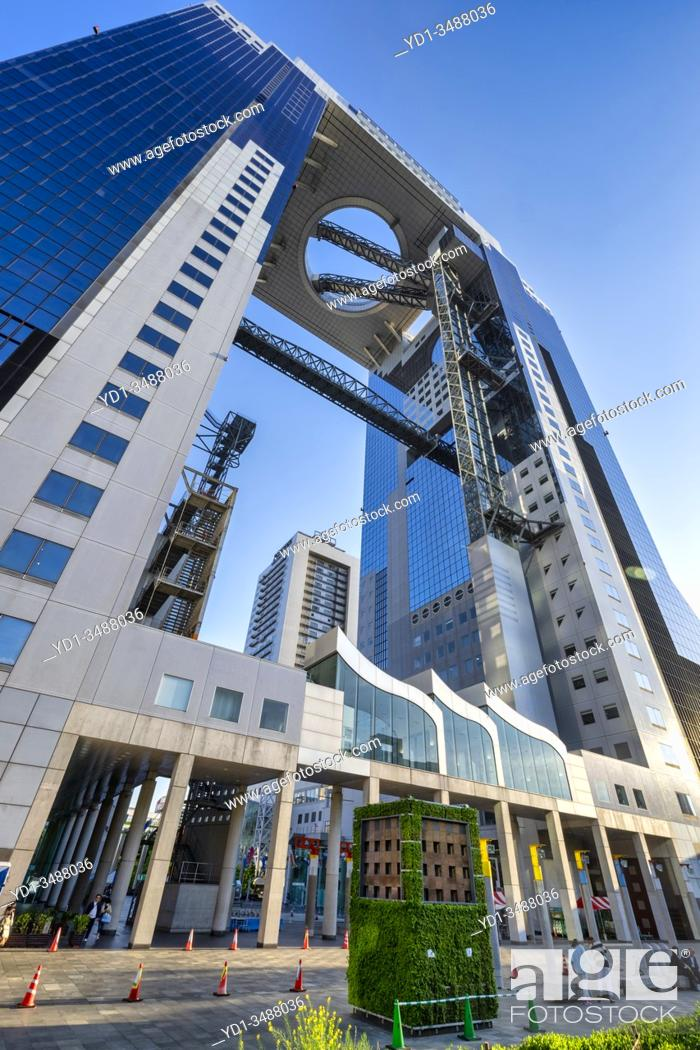 Stock Photo: Osaka Japan. Umeda sky building.