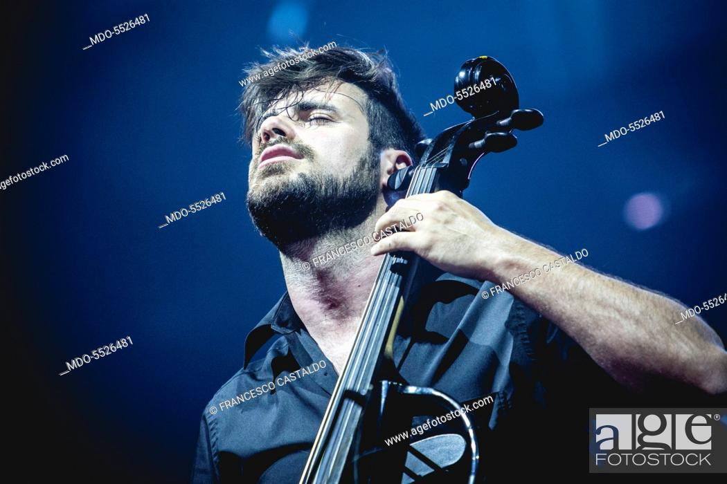 Stjepan Hauser, of the Cellists duo 2Cellos, in concert at