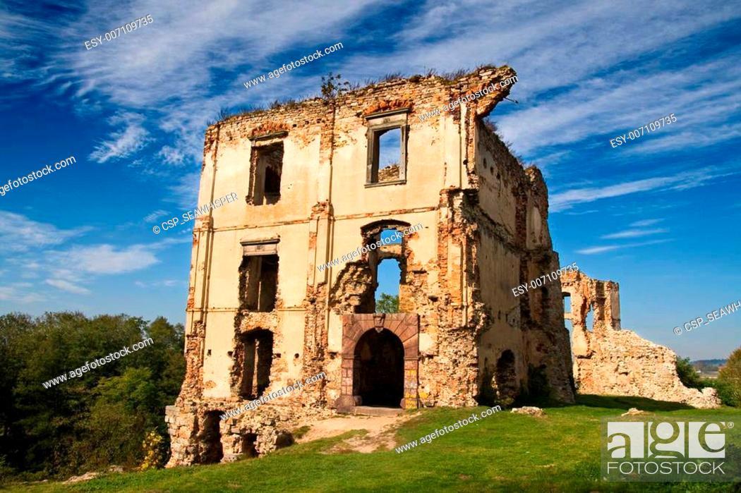 Stock Photo: Ruins of a castle in Bodzentyn.