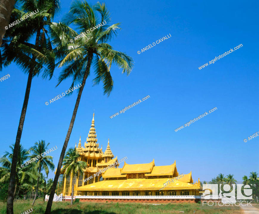 Stock Photo: Kambawzathardi Golden Palace. Bago. Myanmar (Burma).